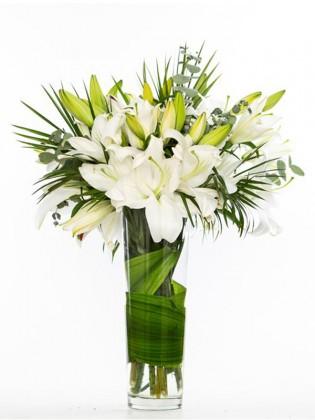 Beyaz Güzellik Lilyum Aranjmanı