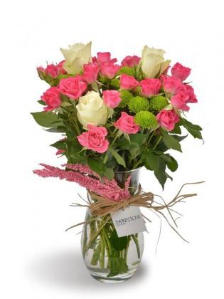 Pembe ve Beyaz Güller