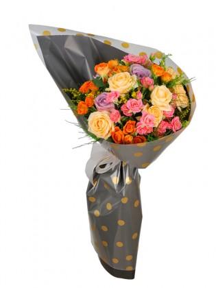 Beauty Renkli Çiçek Buketi